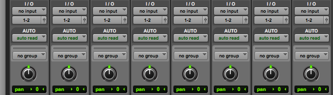 Cascade ALL: Option + Command and click parameter. Now for example, Audio 1